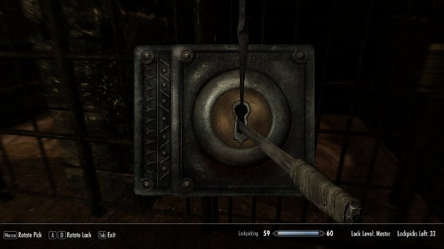 The lockpicking mini-game.